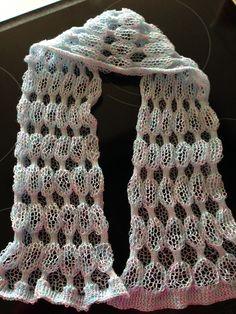 Katoenen sjaaltje in zeepbelpatroon