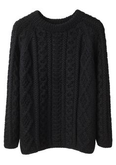 perfect black cable knit sweater