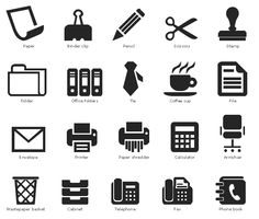 Design elements - Office pictograms | Office pictograms - Vector ...