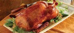 Roasted Whole Duck - Basic Recipe for Crispy Skin | Maple Leaf Farms Crispy Duck Recipes, Roasted Duck Recipes, Bake Turkey Wings Recipe, Baked Turkey Wings, Wing Recipes, Meat Recipes, Cooking Recipes, Goose Recipes, Delicious Recipes