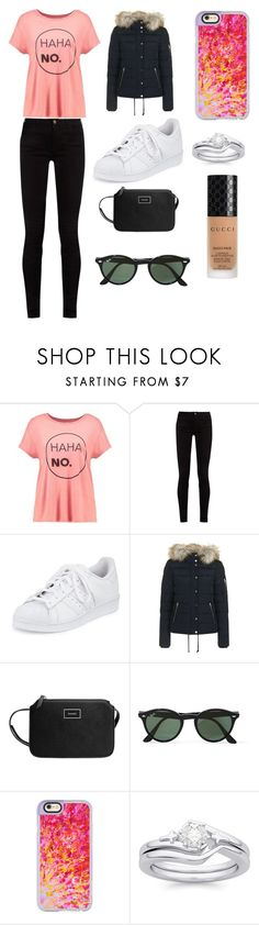 """Sans titre #4424"" by merveille67120 ❤ liked on Polyvore featuring even&odd, Gucci, adidas, Topshop, MANGO, Ray-Ban and Casetify"
