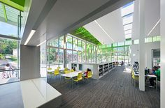 Anacosta Library, Washington DC - you can see our TAF-R diffusers in the floor
