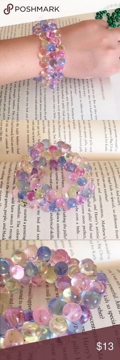3 for $25 Colorful Clear beads Stretch Bracelet Colorful Clear beads Stretch Bracelet. Never used. Ask any questions before buying. Jewelry Bracelets