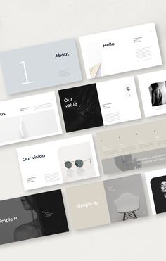 Simple P. PowerPoint Template is a clear presentation to Show your Portfolio & Ideas. This is the right business portfolio presentation for every creator, Mise En Page Portfolio, Portfolio Web, Design Portfolio Layout, Layout Design, Template Portfolio, Design Portfolios, Personal Portfolio, Design Design, Keynote Presentation