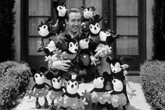Walt Disney with some of his friends