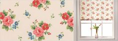 Roller Blinds - Luxury, Made to Measure in the UK Made To Measure Blinds, Cream Roses, Roller Blinds, Blue Cream, Great Rooms, Contemporary Style, Pink And Green, Floral Prints