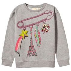 This sweatshirt from Soft Gallery is a cool and stylish layering option for the new season. Boasting a glittery pink embroidered