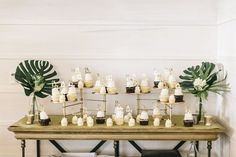 Elegant Baby Shower Cupcake Station