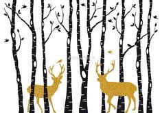 Gold Christmas deer by beakraus