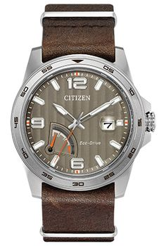 Citizen Citizen Eco-Drive  Citizen PRT AW7039-01H Eco-Drive Power Reserve, 42mm, 100m $275 MSRP - also available in Navy with Navy/white NATO strap
