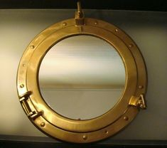 "$35.0 Vintage Porthole Mirror Brass Nautical 11"" #nauticalroom #nauticaldecor Nautical Room Decor, Porthole Mirror, Diy Home Decor, Diy Decoration, Modern Bedroom, Brass, Pool Ideas, Mirrors, House Ideas"