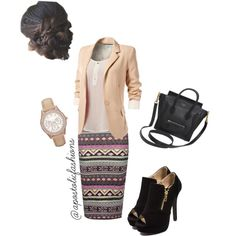 Apostolic Fashions #562 by apostolicfashions on Polyvore featuring CÉLINE and FOSSIL