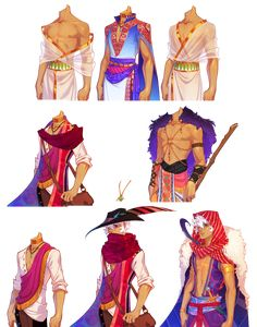 The Arcana - Asra outfits Character Concept, Character Art, Concept Art, Desenhos Cartoon Network, Drawing Clothes, Dnd Characters, Character Outfits, Character Costumes, Anime Outfits