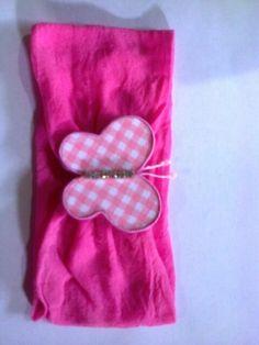 Tiara meia de seda borboleta
