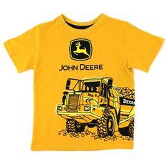 John Deere Baby Toddler Boys Tee Tractor #YankeeToyBox #FunStartsHere #JohnDeere #Tractor #KidsTees #GraphicTees