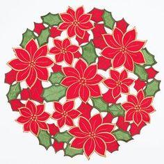 Advanced Embroidery Designs - Fleur de Lis Cutwork Doily. - Google Search