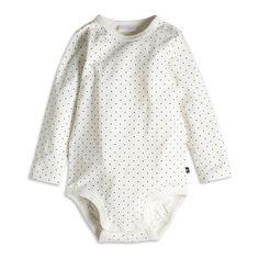 Patterned Bodysuit, White, Tops, Kids   Lindex
