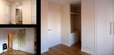 ...y se aprovechó el espacio de un dormitorio interior para un vestidor y un armario empotrado.
