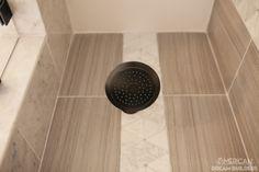 "Shower Trim Tile - Florentine 3"" x 10"" Bullnose Trim Carrara FL06 with Santino…"