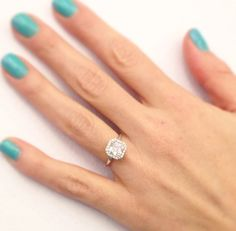 Per Lei engagement ring by Danhov. Made in the USA.