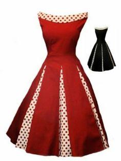 Aprils Classy New Black Rockabilly 1950s Vintage Swing Evening Dress