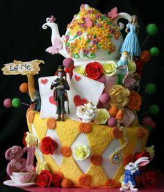 Alice in Wonderland Theme 21st cake. Love.