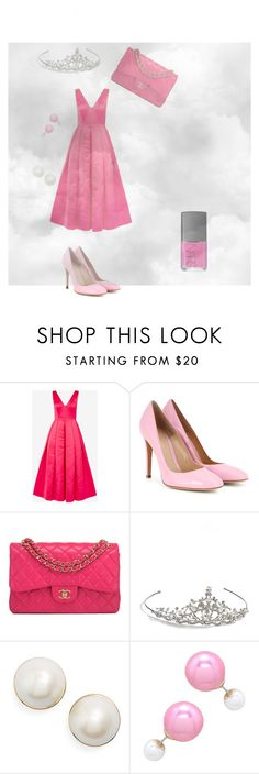 """What my friend Amber would probably wear to prom"" by selena589 on Polyvore featuring Ted Baker, Gianvito Rossi, Chanel, Nina, Kate Spade and NARS Cosmetics"