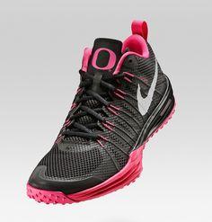 8d6c380fe876 Nike Lunar TR1 NRG (Oregon Ducks) Pink Black Breast Cancer Size 11.5 Shoes
