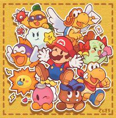 Mundo Super Mario, Super Mario Art, Super Mario World, Super Mario Bros Nintendo, Mario Video Game, Video Game Art, Kirby Character, Game Character, Hama Beads Minecraft