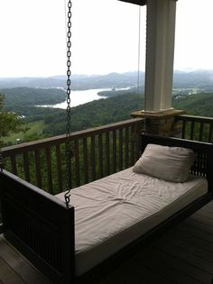 Corner porch swing