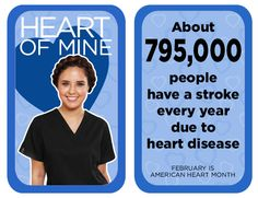 About people have a stroke every year due to heart disease. Heart Disease Facts, Dental Scrubs, Same Day Delivery Service, Heart Month, Every Year, Lab Coats, Nursing Dress, People, Life