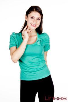 Playera. Modelo 18322. Precio $100 MXN #Lineas #outfit #moda #tendencia #2014 #ropa #prendas #estilo #outfit #primavera #playera