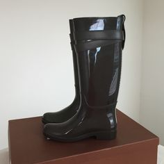Coach rain boots New with box color is grey Coach Shoes Winter & Rain Boots