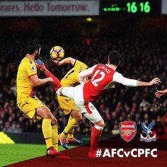 Olivier Giroud opens the scoring with a scorpion kick!  #AFCvCPFC #arsenal #gunners #coyg