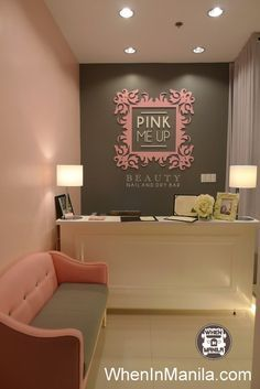 salon Pink Me Up Beauty Nail and Dry Bar: Most Glamorous Nail Salon in Metro Manila - . Pink Me Up Beauty Nail and Dry Bar: Most Glamorous Nail Salon in Metro Manila - When In Manila Beauty Salon Interior, Beauty Room, Spa, Spa Design, Beauty Salon Decor, Dry Bar, Interior