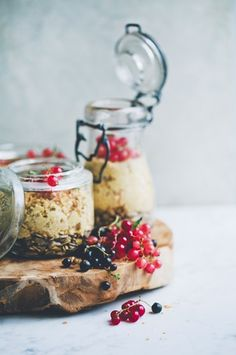 ... orange & vanilla overnight oats ...