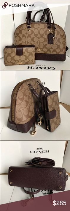 Coach Set 100% Authentic Coach Purse Crossbody and Wallet, both brand new with tag! Coach Bags Crossbody Bags