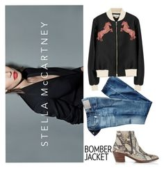 """stella bomber"" by vicster1 ❤ liked on Polyvore featuring Hudson, STELLA McCARTNEY and AG Adriano Goldschmied"