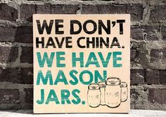 Mason Jars Wall Art Kitchen Wall Decor Wood Sign Home Wall Decor Southern Mason Jar Sign Mason Jars, Mason Jar Crafts, Mason Jar Kitchen Decor, Shabby, Kitchen Wall Art, Home Wall Decor, Do It Yourself Home, Sign Quotes, Wooden Signs