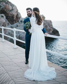 21 Best Of Greek Wedding Dresses For Glamorous Bride ❤ greek wedding dresses a line with long sleeves simple modest lorena san josé #weddingforward #wedding #bride
