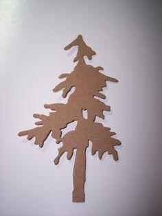 Die Cut Pine Tree set of 4 by mreguera on Etsy, $3.00