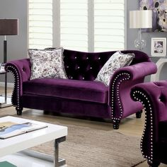 Furniture of America Dessie Traditional Tufted Loveseat | Overstock.com Shopping - The Best Deals on Sofas & Loveseats