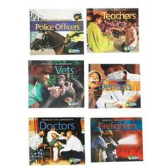 The People in the Community book series uses real life photographs to help children understand the jobs of people in their community. Perfect for classroom reading. Career Exploration, Police Officer, Book Series, Firefighter, Social Studies, Real Life, Classroom, Teacher, Professor