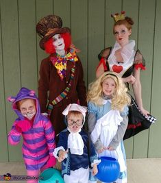 This is our family's themed costume this year. Every year we pick something we can all do together, its what makes halloween the most fun for us! This year we chose Alice in Wonderland because our kids are super into all things disney.
