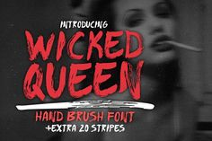 WICKED QUEEN Brush Font +extra by Suat Tuna on @creativemarket