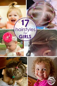 17 {Terrific} Hair Styles for Little Girls - Kids Activities Little Girls Ponytail Hairstyles, Little Girl Ponytails, Baby Girl Hairstyles, Princess Hairstyles, Cute Hairstyles, Braid Hairstyles, Teenage Hairstyles, Toddler Hairstyles, Hair Girls