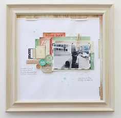 Crafting ideas from Sizzix UK: Janna Werner - framed #scrapbooking page - supplies by #Sizzix and #CratePaper