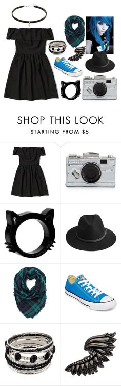 """""""Untitled #62"""" by jkat598 on Polyvore featuring Abercrombie & Fitch, Kate Spade, BeckSöndergaard, Converse and Roberto Cavalli"""