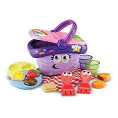 Picnic Basket Toys Garden Shapes Sharing Learning Kids Girls Fun Play Food NEW Toddler Toys, Baby Toys, Kids Toys, Baby Activity Toys, Infant Activities, Educational Toys For Toddlers, Learning Toys, Toys R Us, Picnic Basket Set