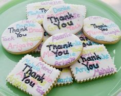 thank you sugar cookies | ... thank them for being so fantastic. So, of course, being that I'm me